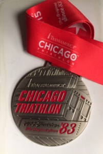 Chicago Triathlon finish
